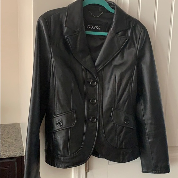 Guess Jackets & Blazers - Like New Guess Leather Blazer